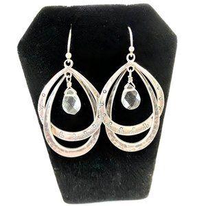 Silpada Sterling Silver .925 Double Loop Earrings